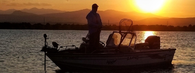 fishing guide, Colorado sunset, Boyd lake, Loveland, Colorado, fishing